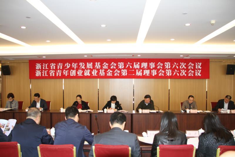 浙江省青基会六届六次理事会、浙江省青创会二届六次理事会在杭州召开